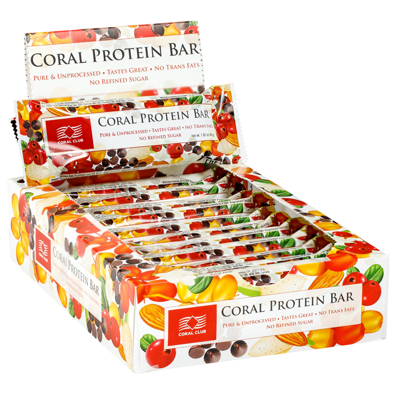 Buy Coral Protein bar, box of 12