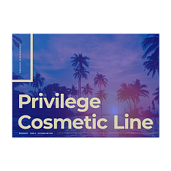Brochure, Privilege Skin Care Line