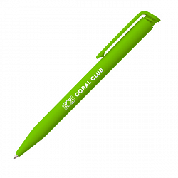 Pen with logo light-green